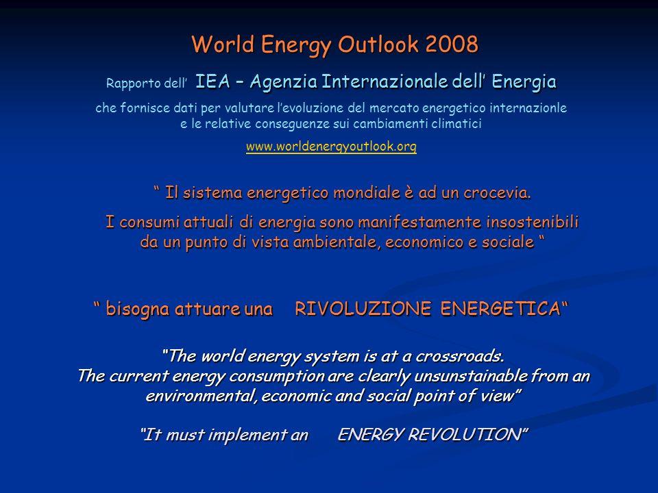 IEA – Agenzia Internazionale dell Energia Rapporto dell IEA – Agenzia Internazionale dell Energia che fornisce dati per valutare levoluzione del merca