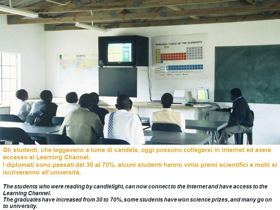 48ENEA - educarsi al futuro Gli studenti, che leggevano a lume di candela, oggi possono collegarsi in Internet ed avere accesso al Learning Channel. I
