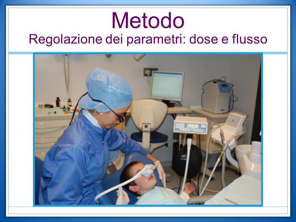 Metodo Regolazione dei parametri: dose e flusso
