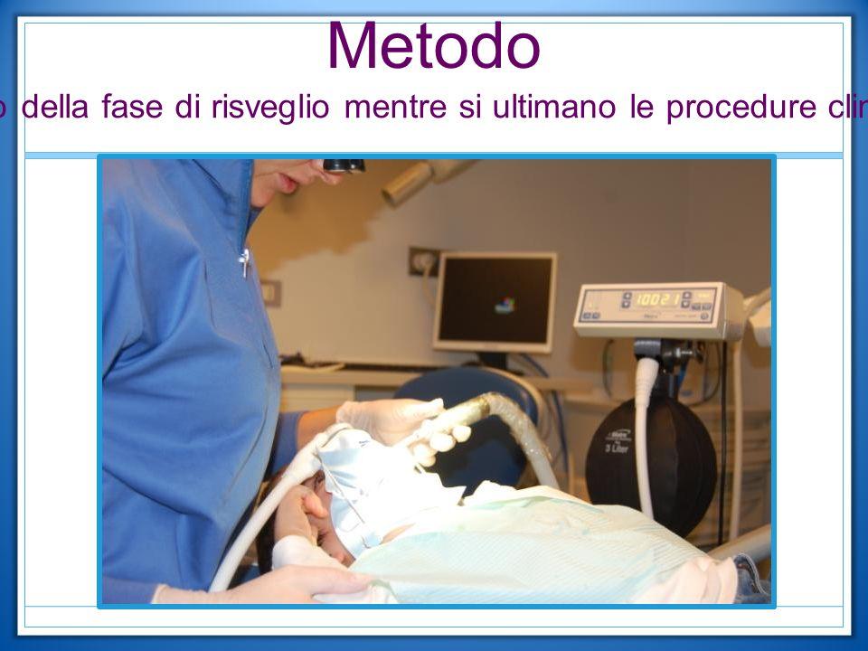 Metodo Inizio della fase di risveglio mentre si ultimano le procedure cliniche