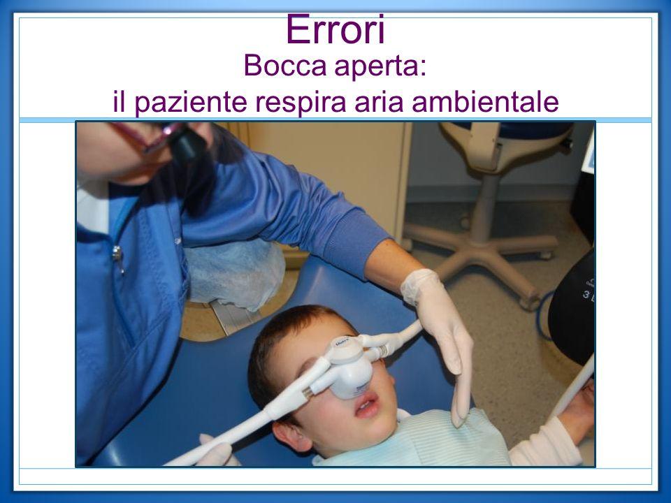 Errori Bocca aperta: il paziente respira aria ambientale