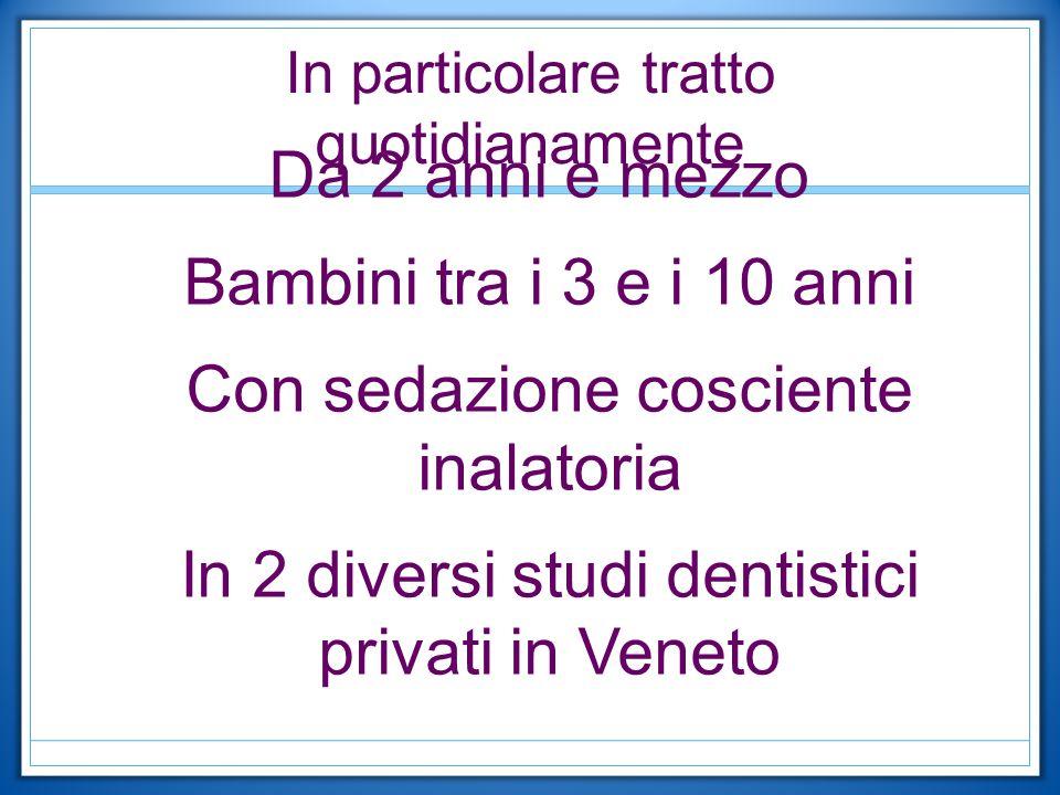 Le discipline coinvolte clinicamente sono: Conservativa Endodonzia Estrazioni di elementi decidui Ozono terapia