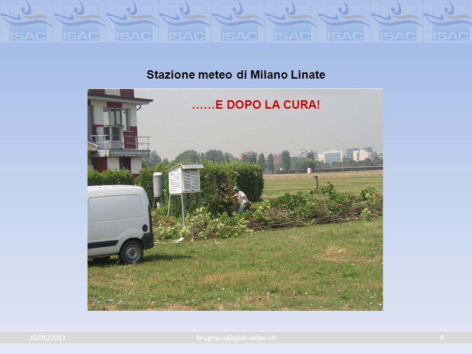 30/05/20118brugnara@giub.unibe.ch PRIMA…… Stazione meteo di Milano Linate ……E DOPO LA CURA!