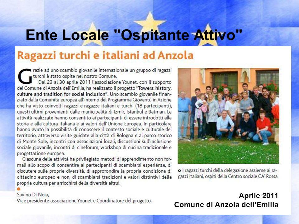 Ente Locale Ospitante Attivo Settembre 2011 Comune di Sala Bolognese