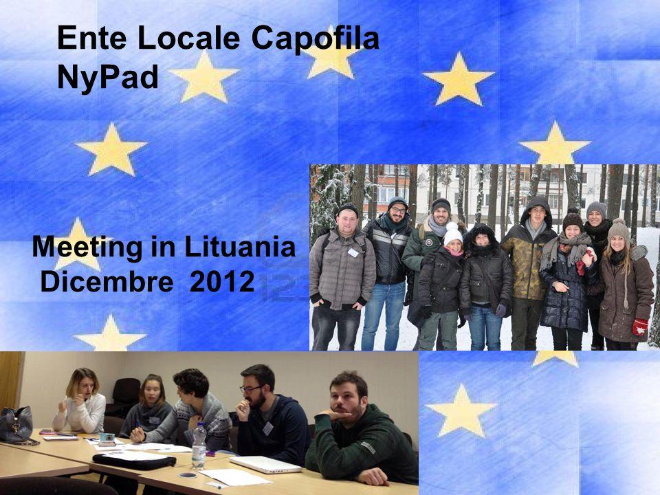 Ente Locale Capofila NyPad Meeting in Lituania Dicembre 2012