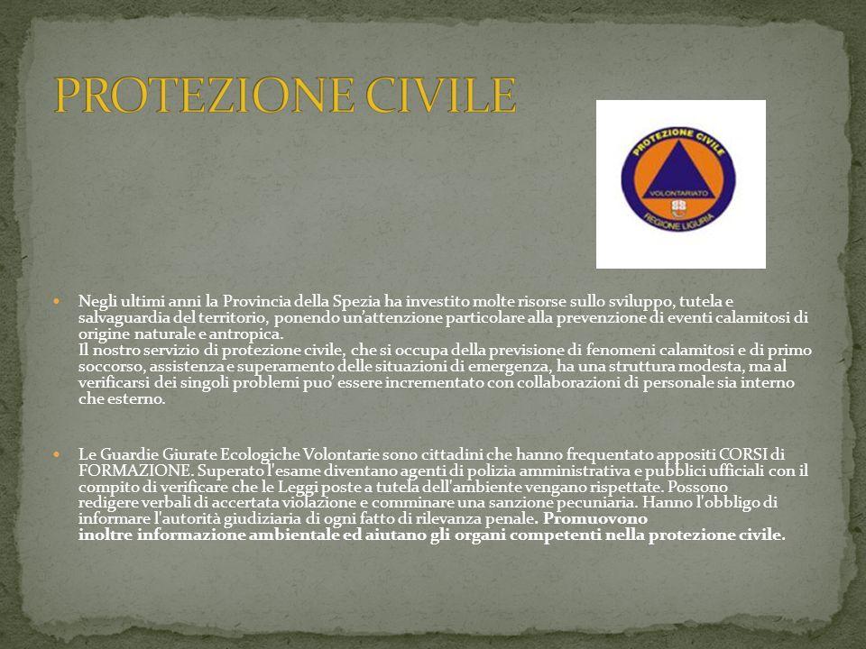 Negli ultimi anni la Provincia della Spezia ha investito molte risorse sullo sviluppo, tutela e salvaguardia del territorio, ponendo unattenzione particolare alla prevenzione di eventi calamitosi di origine naturale e antropica.