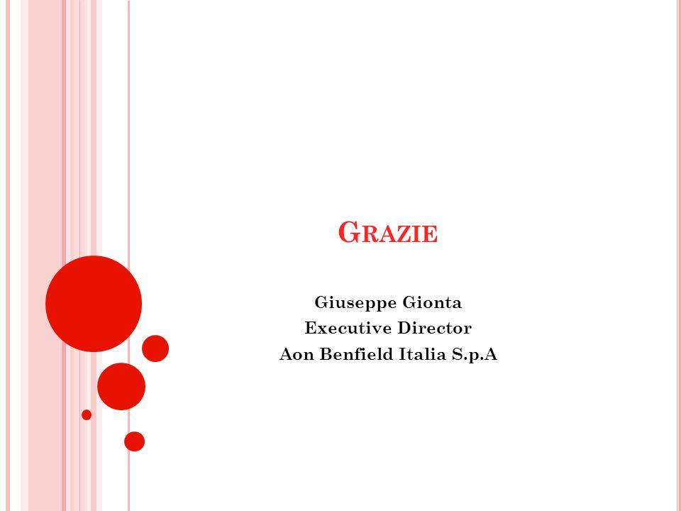 G RAZIE Giuseppe Gionta Executive Director Aon Benfield Italia S.p.A