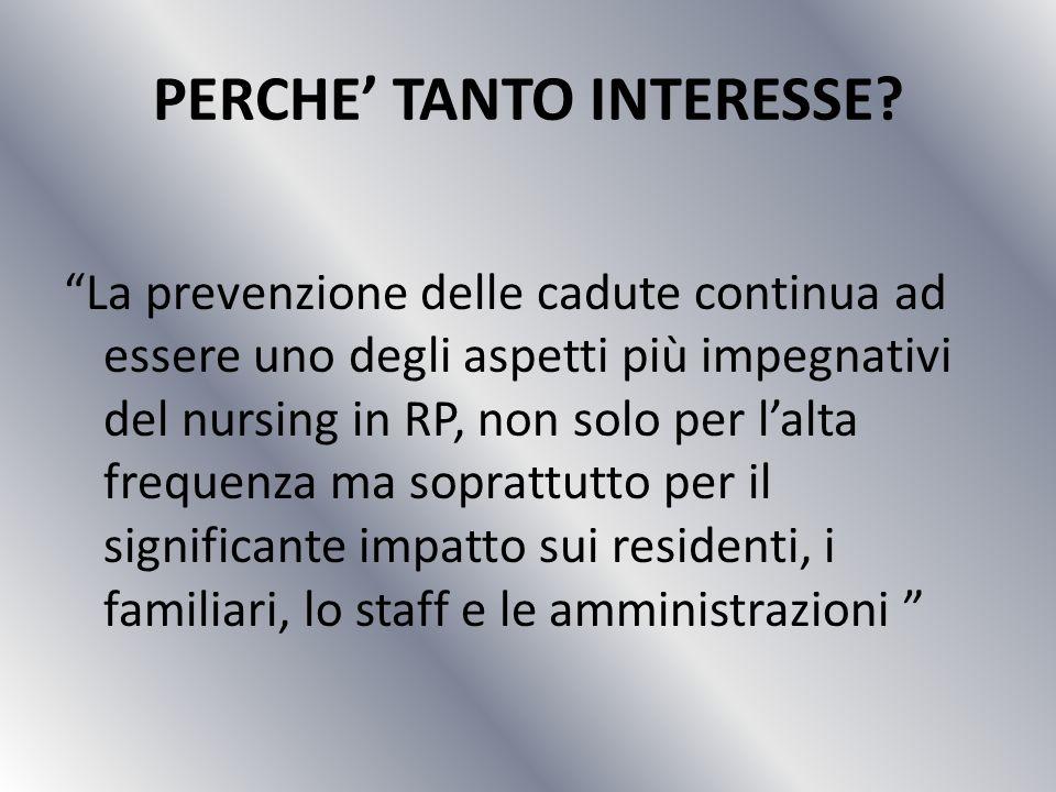 PERCHE TANTO INTERESSE.