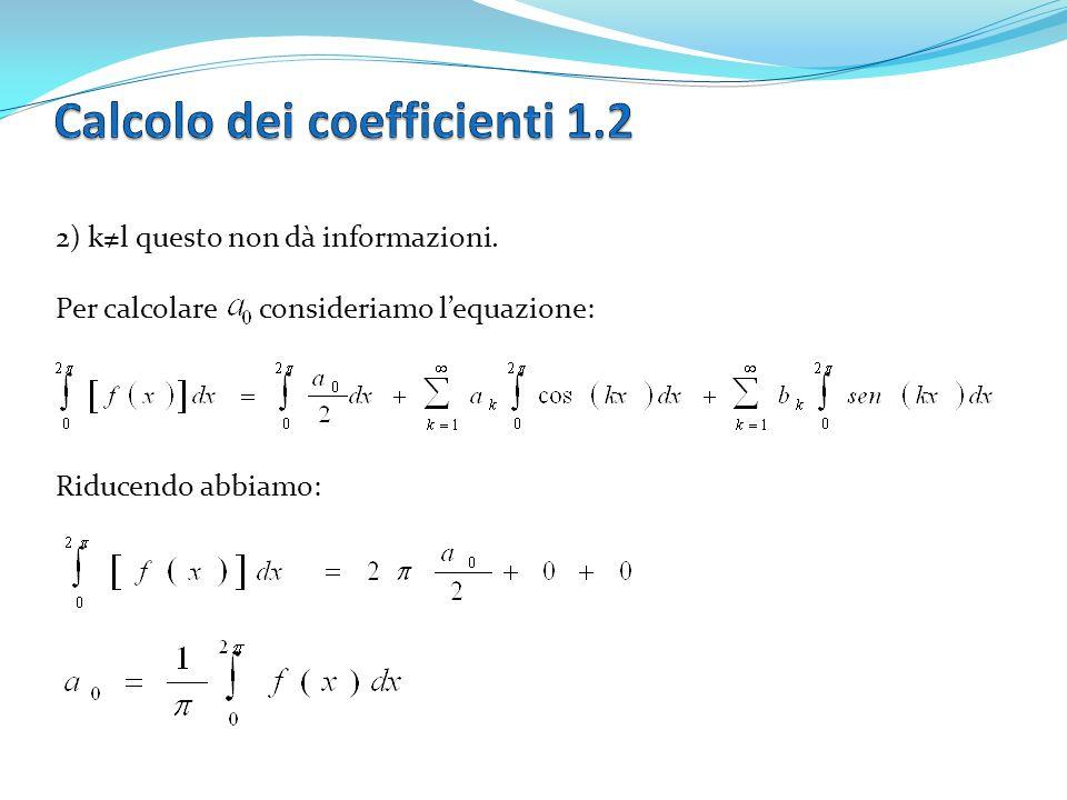 Con n dispari possiamo scrivere la funzione (2) come I coefficienti ck per k=0,….M sono determinati come prima, mentre scriviamo con μ=0 se n è pari, μ=1 se n è dispari.