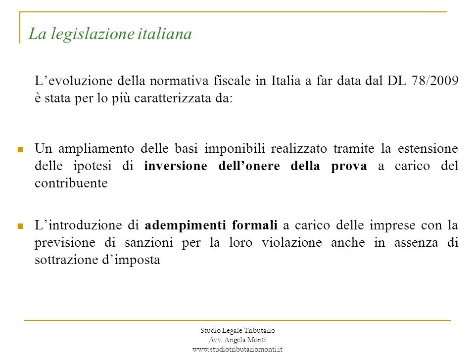 Avv.Angela MontiStudio Legale Tributario Avv.
