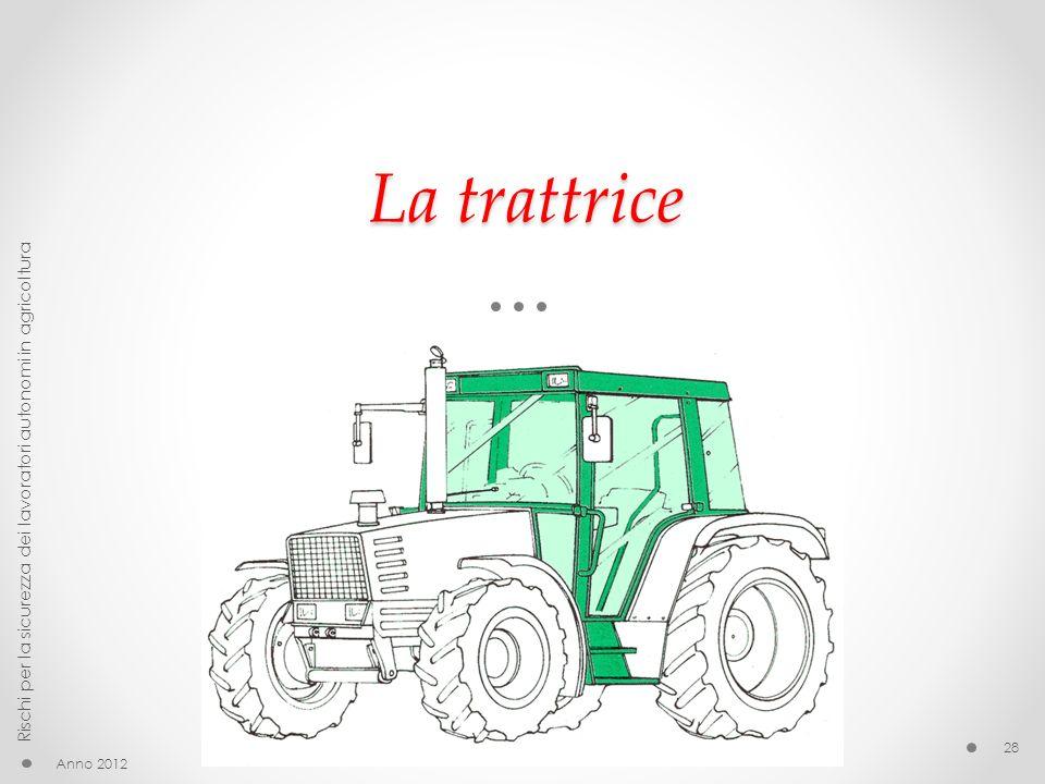 La trattrice Anno 2012 Rischi per la sicurezza dei lavoratori autonomi in agricoltura 28