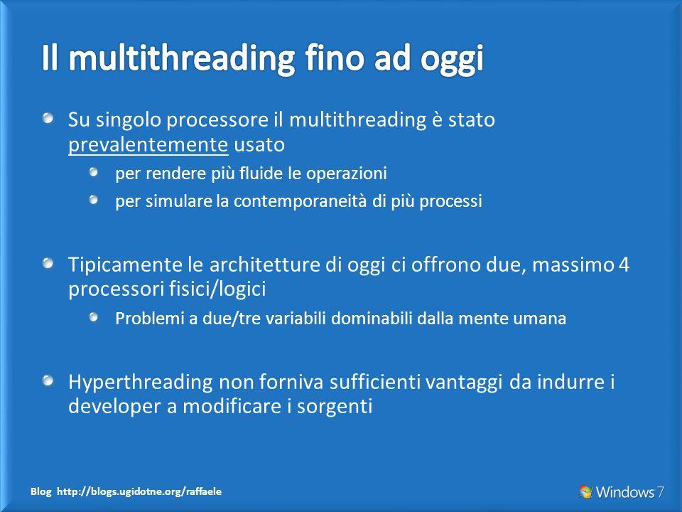 Su singolo processore il multithreading è stato prevalentemente usato per rendere più fluide le operazioni per simulare la contemporaneità di più proc
