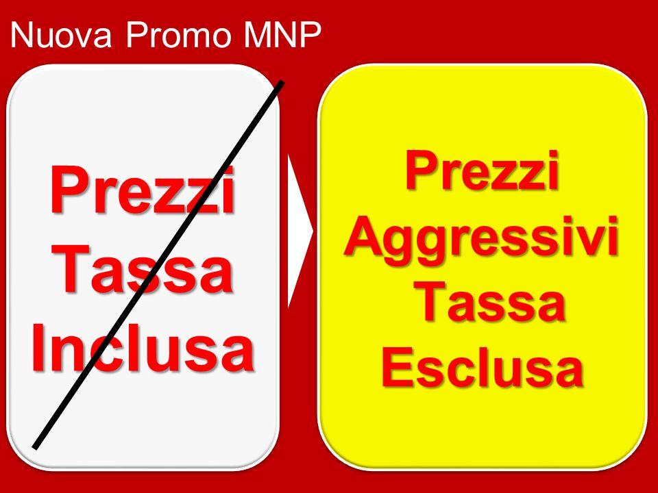 Prezzi Tassa Inclusa Prezzi Prezzi Aggressivi Tassa TassaEsclusa Prezzi Aggressivi Tassa TassaEsclusa Nuova Promo MNP