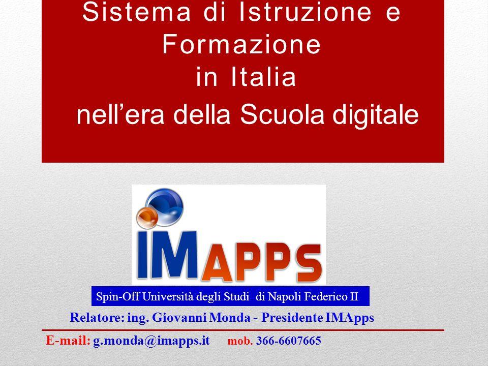 Riassumendo cosa accade in Italia oggi Incidenza della spesa in istruzione e formazione sul Pil nel 2012 è del 4,5% (Ue27 media 5,5 per cento).