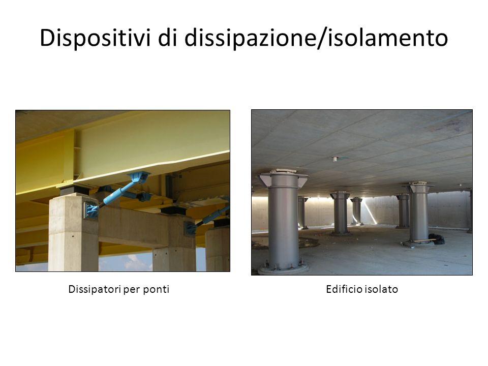 Dispositivi di dissipazione/isolamento Edificio isolatoDissipatori per ponti