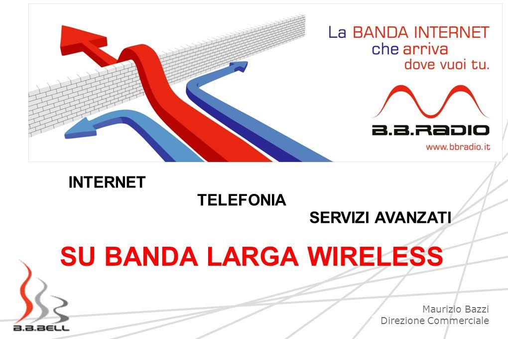 1 SU BANDA LARGA WIRELESS INTERNET TELEFONIA SERVIZI AVANZATI Maurizio Bazzi Direzione Commerciale