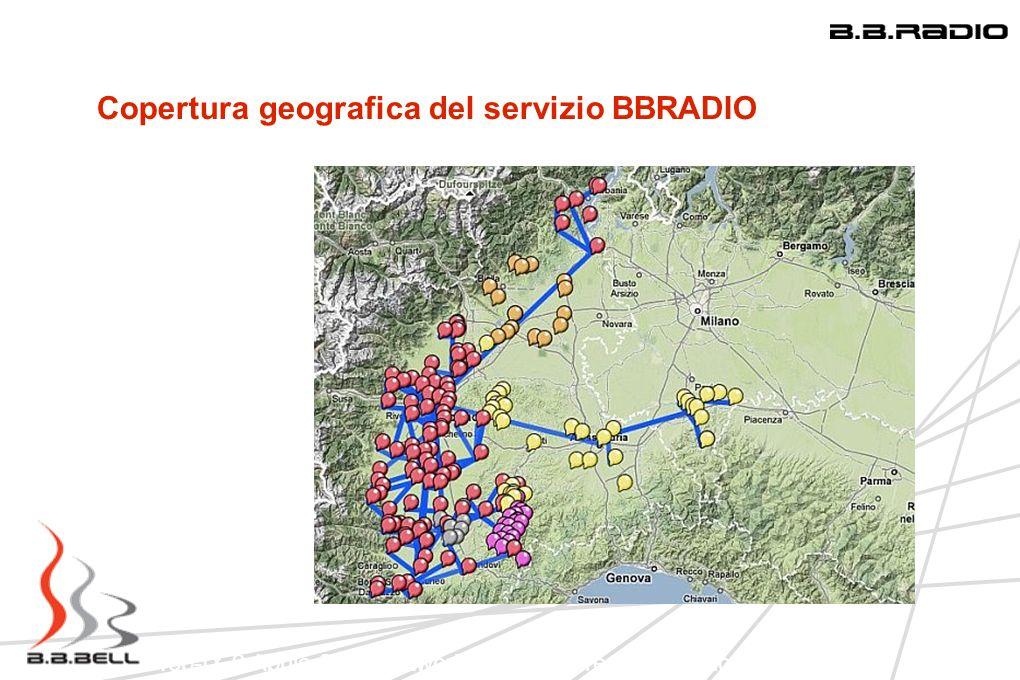 Top-IX 9 Aprile 2009 Network Infrastucture: Una regione in LAN Copertura geografica del servizio BBRADIO