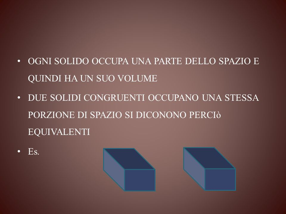 I due solidi sono equivalenti? U3U3