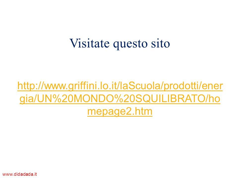 http://www.griffini.lo.it/laScuola/prodotti/ener gia/UN%20MONDO%20SQUILIBRATO/ho mepage2.htm Visitate questo sito www.didadada.it