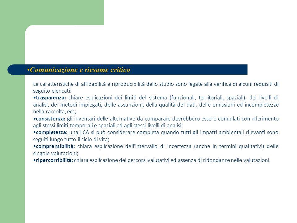 Le caratteristiche di affidabilità e riproducibilità dello studio sono legate alla verifica di alcuni requisiti di seguito elencati: trasparenza: chia
