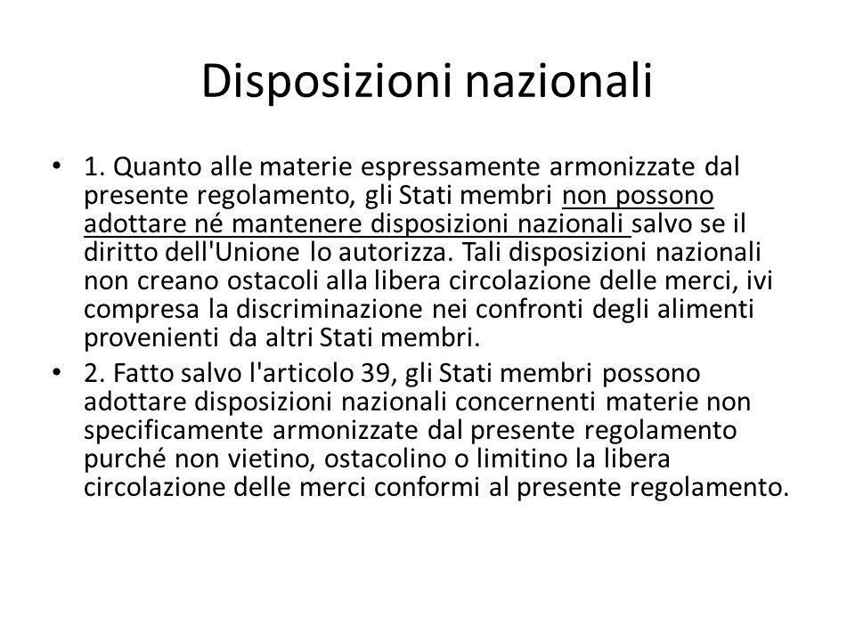 Disposizioni nazionali 1.