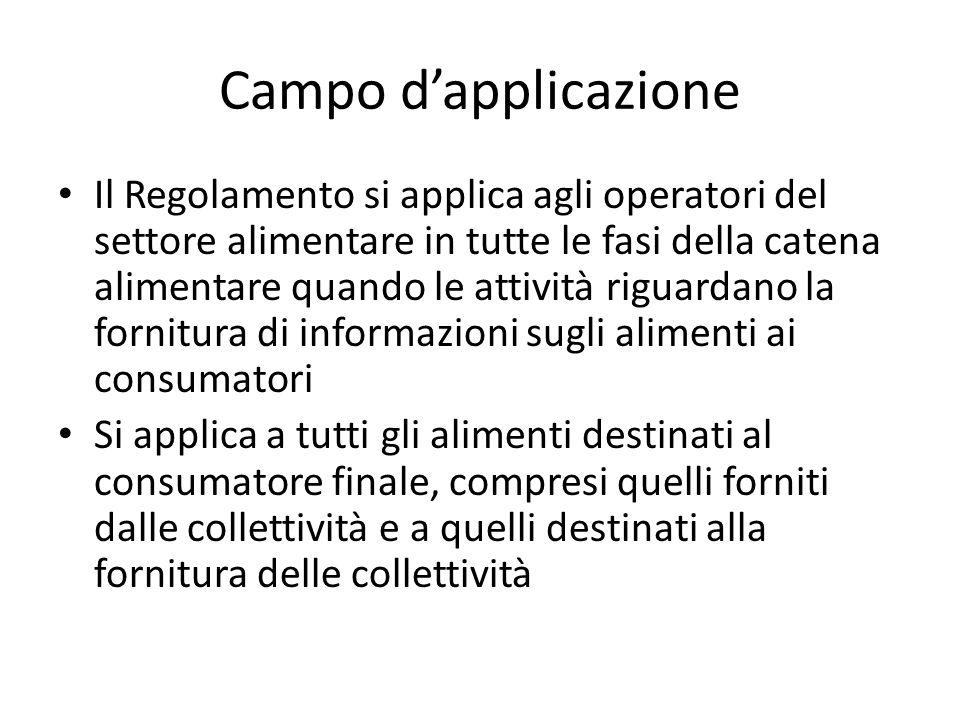 Disposizioni nazionali sulle indicazioni obbligatorie complementari 1.