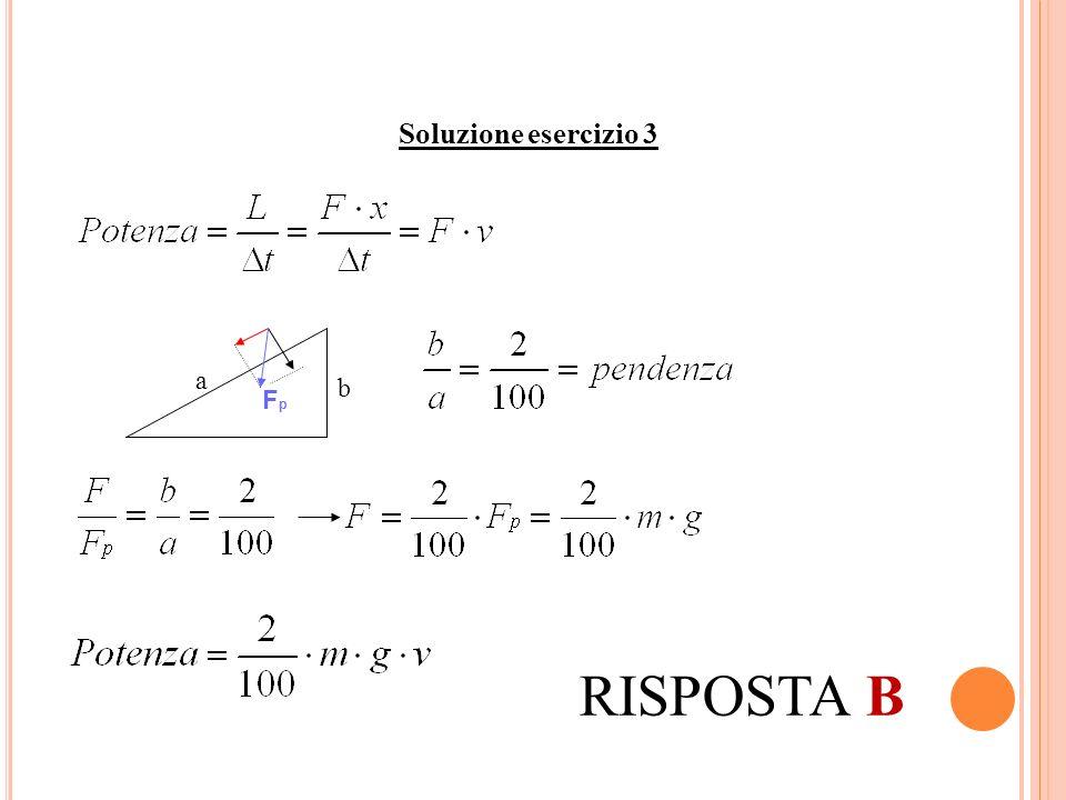 Soluzione esercizio 3 FpFp a b RISPOSTA B