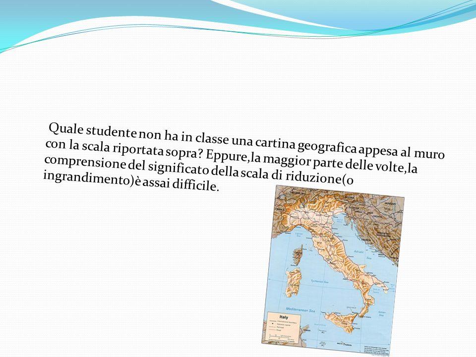 Quale studente non ha in classe una cartina geografica appesa al muro con la scala riportata sopra? Eppure,la maggior parte delle volte,la comprension