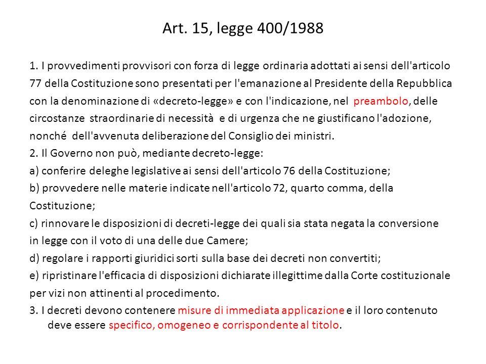 Art. 15, legge 400/1988 1.