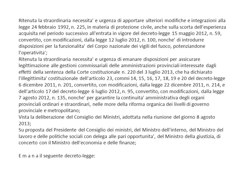 Art.15, legge 400/1988 4.