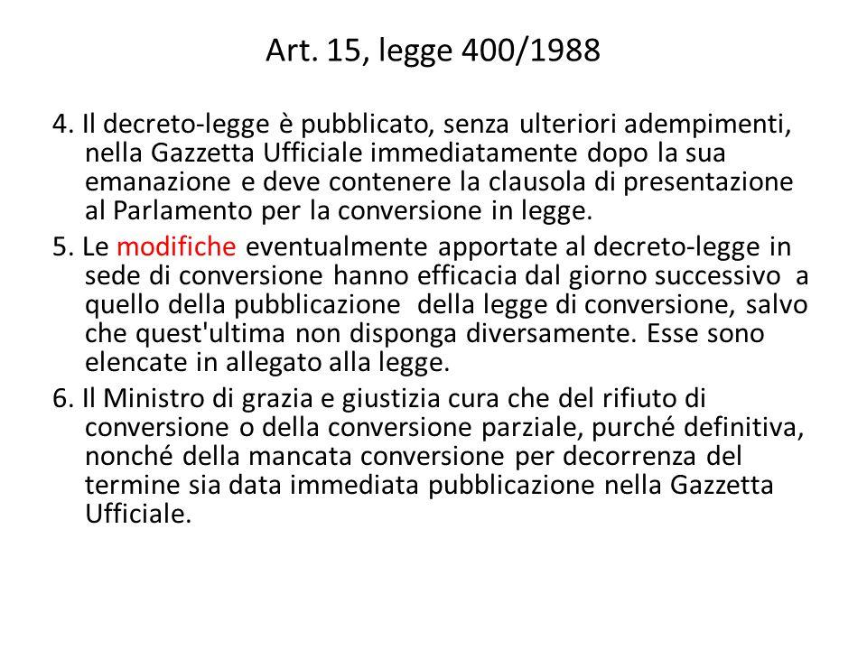 Art. 15, legge 400/1988 4.