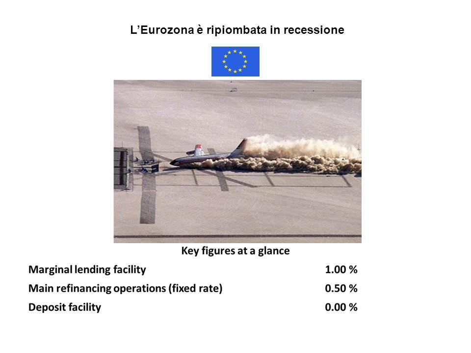 LEurozona è ripiombata in recessione