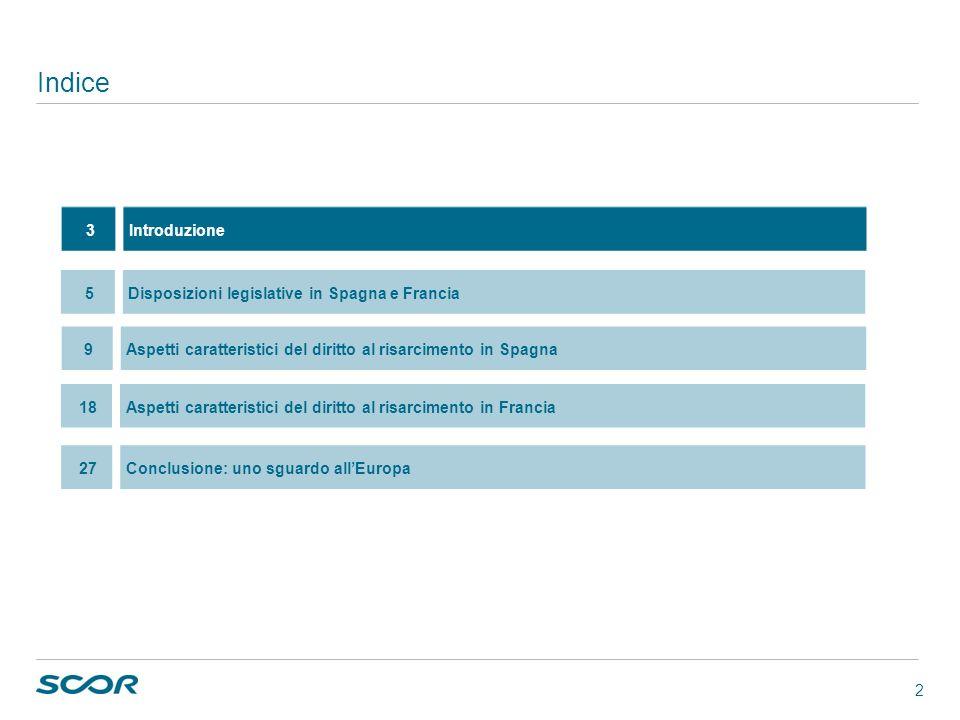 2 Indice 27Conclusione: uno sguardo allEuropa 3Introduzione 5Disposizioni legislative in Spagna e Francia 9Aspetti caratteristici del diritto al risar