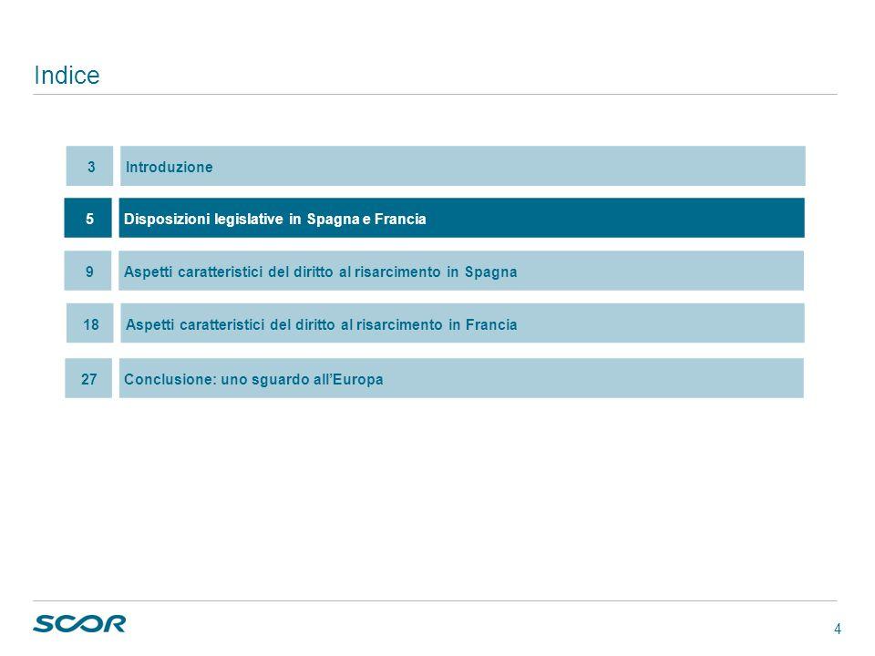 4 Indice 5Disposizioni legislative in Spagna e Francia 18Aspetti caratteristici del diritto al risarcimento in Francia 9Aspetti caratteristici del dir
