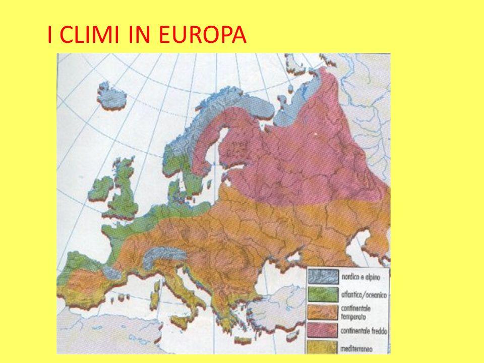 I CLIMI IN EUROPA