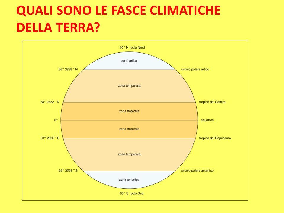 QUALI SONO LE FASCE CLIMATICHE DELLA TERRA?