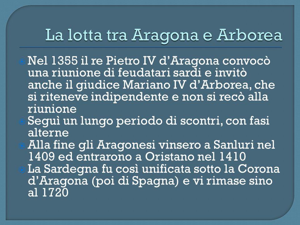 Nel 1355 il re Pietro IV dAragona convocò una riunione di feudatari sardi e invitò anche il giudice Mariano IV dArborea, che si riteneve indipendente