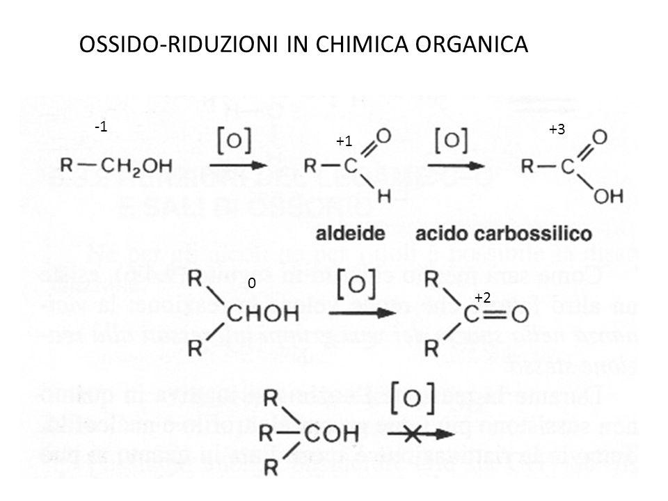 +1 +3 0 +2 OSSIDO-RIDUZIONI IN CHIMICA ORGANICA