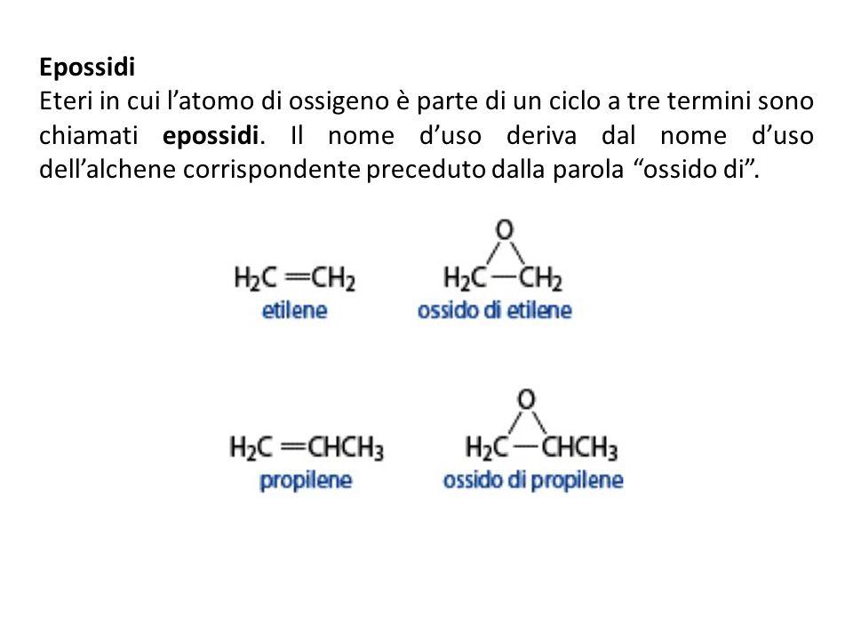 Epossidi Eteri in cui latomo di ossigeno è parte di un ciclo a tre termini sono chiamati epossidi. Il nome duso deriva dal nome duso dellalchene corri