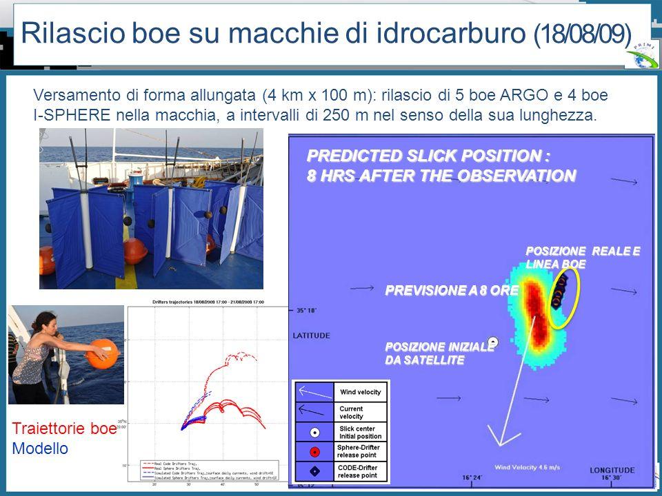 Workshop PRIMI (12 aprile 2011) - Il monitoraggio dallo spazio dellinquinamento marino da idrocarburi tra presente e futuro Versamento di forma allung
