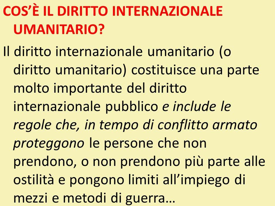 LE GARANZIE DI APPLICAZIONE Fondamento giuridico: Art.1 - comune alle quattro CG 1949 1° P.A.