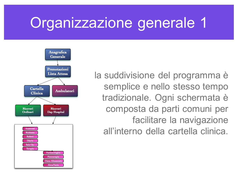 Organizzazione generale 1 la suddivisione del programma è semplice e nello stesso tempo tradizionale. Ogni schermata è composta da parti comuni per fa