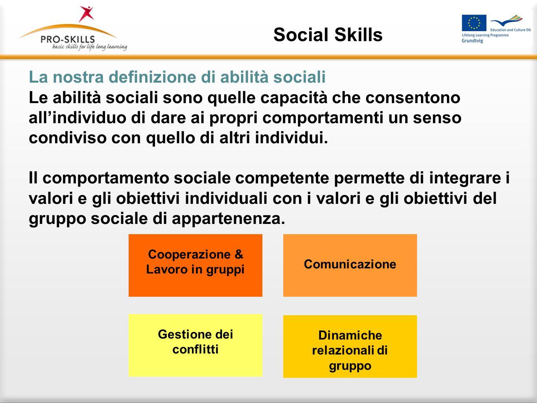 Social Skills Padroneggiare le abilità sociali è di vitale importanza in una società post-moderna descritta nei termini di studiosi come Ulrich Beck a