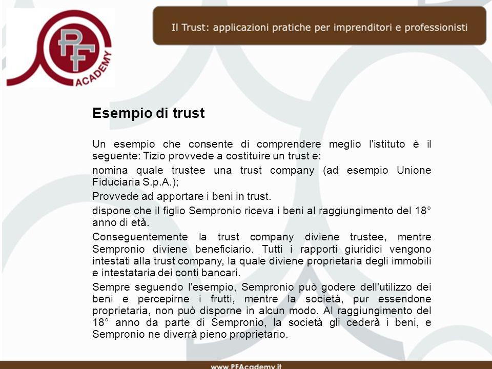 Giurisprudenza 31 gennaio 2012 Il Tribunale di Urbino rigetta il reclamo avverso lordinanza 11 novembre 2011 e dichiara che il trust in questione ha legittima funzione di trapasso generazionale e non lede i diritti dei legittimari