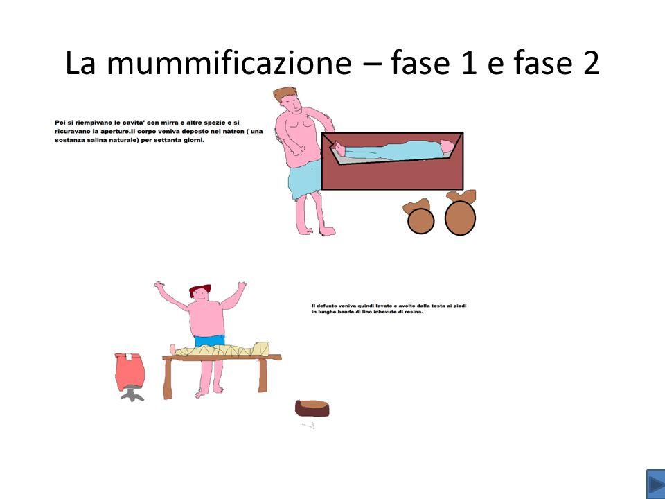 La mummificazione – fase 1 e fase 2