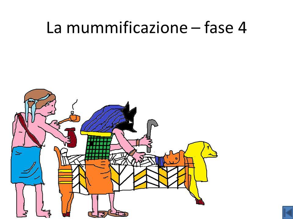 La mummificazione – fase 4