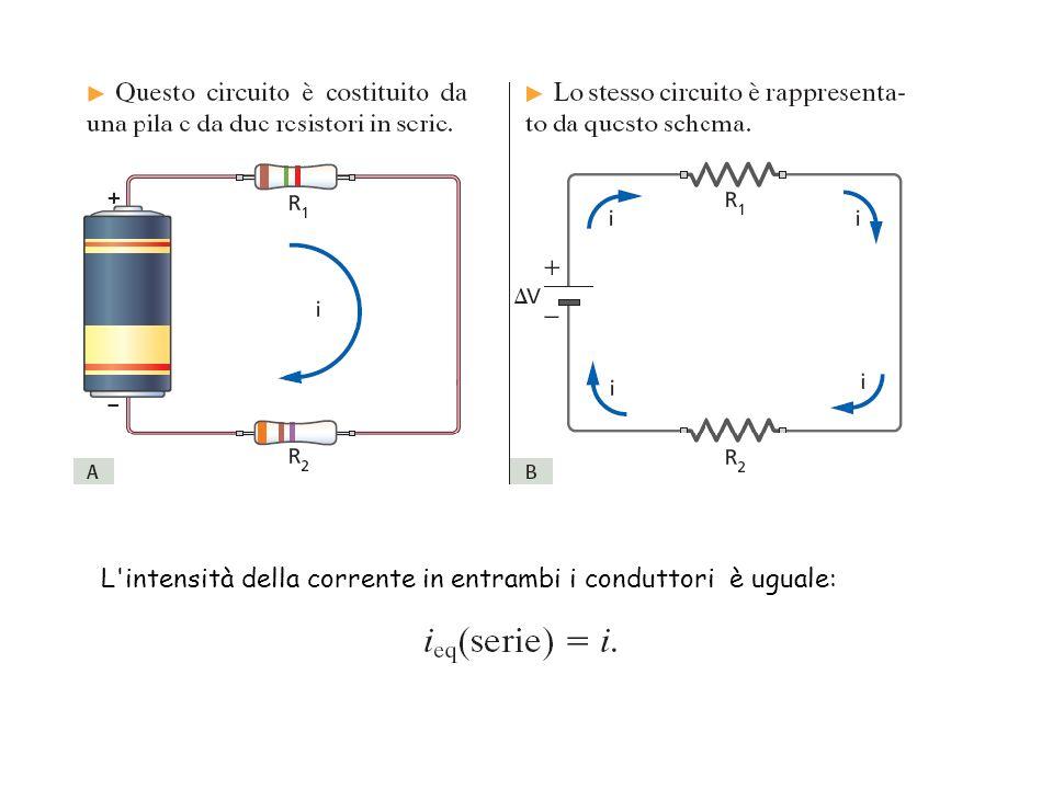 L'intensità della corrente in entrambi i conduttori è uguale: