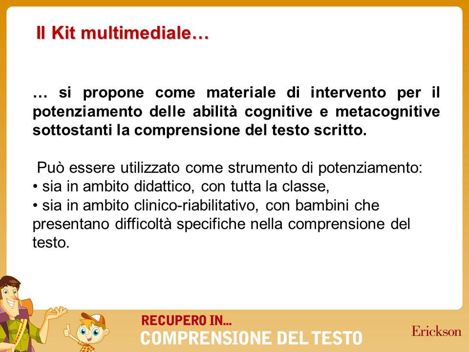 … ha come modello di riferimento lapproccio multicomponenziale alla comprensione proposto da De Beni, Cornoldi, Carretti e Meneghetti (2003), modello che individua 10 sottoabilità implicate nella comprensione del testo.