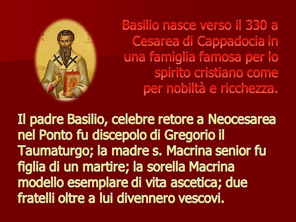 Basilio non poteva accontentarsi della semplice citazione della Scrittura poiché anche i suoi avversari ne invocavano l autorità.