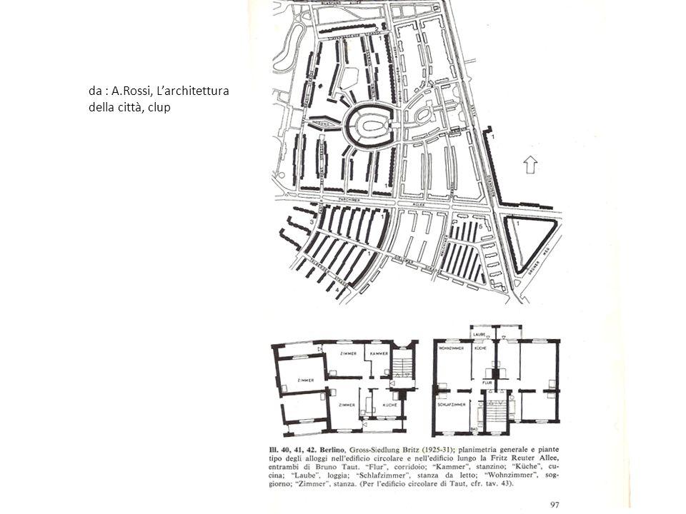 da : A.Rossi, Larchitettura della città, clup